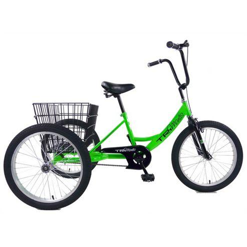 "Concept Pedal Pals 20"" Wheel Tri-Mantis Trike, Neon Green/Black"