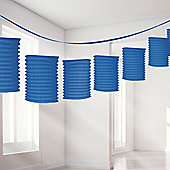 Royal Blue Lantern Garland - 3.65m