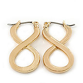 Gold Plated 'Infinity' Drop Earrings - 25mm Length