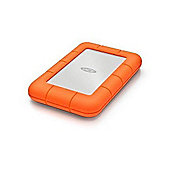 LaCie 9000633 4TB Rugged Mini USB 3.0 7200rpm Portable Hard Drive Shock/rain and pressure resistant Password protection