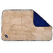 Scruffs Pet Dog Snuggle Comfort Blanket Reversible Design 110 x 75cm Blue