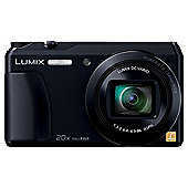 "Panasonic Lumix DMC-TZ55  Digital Camera, Black, 16 MP, 20x Optical Zoom, 3"" LCD Screen, Wi-Fi"