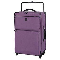 IT Luggage Worlds Lightest 4-Wheel Medium Purple Suitcase
