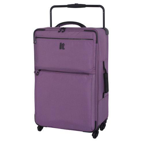 buy it luggage worlds lightest 4 wheel medium purple. Black Bedroom Furniture Sets. Home Design Ideas