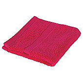 Tesco 100% Combed Cotton Face Cloth Fuschia