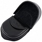 Tony Perotti Italian leather black coin tray purse with inside flap over pocket