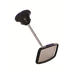 Deluxe Adjustable Baby View Mirror - BLACK/SILVER - F218 - Dreambaby