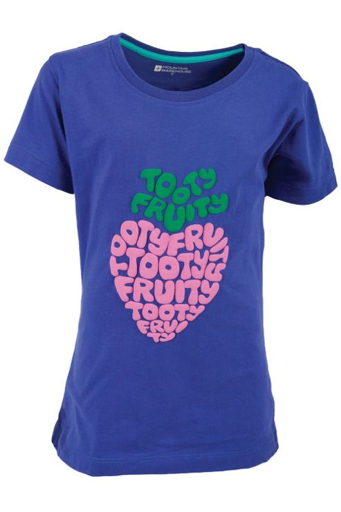 Tooty Fruity Kids Tee Shirt 100% Cotton Round Neck T-Shirt Top