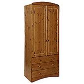 Scandi Pine Two Door Wardrobe with Three Drawers