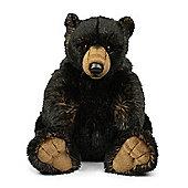 WWF Black Grizzly Bear Soft Toy - 32cm