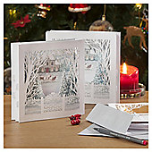 Woodland Village Luxury Christmas Cards, 6 pack