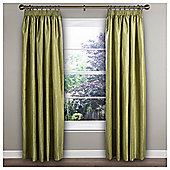 "Ripple Pencil Pleat Curtains W168xL137cm (66x54""), Green"