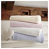 Clair de Lune Cellular Cot Bed Blanket (Pink)