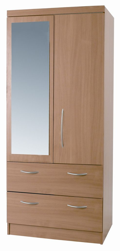 Alto Furniture Mode Combi 2 Drawer Wardrobe with Mirror