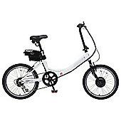 "Hopper Rigid 20"" Electric Bike White"