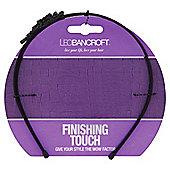 Leo Bancroft Finishing Touch Black Flower Headband