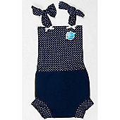 Splash About Happy Nappy Costume Large (Navy & White Dot)