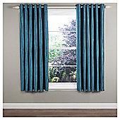 "Ripple Eyelet Curtains W229xL229cm (90x90""), Teal"