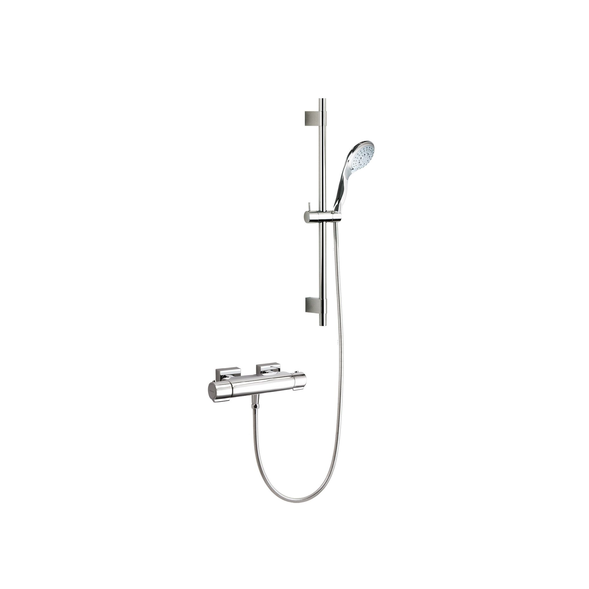 Ramon Soler Thermoarola Exposed Thermostatic Bath/Shower Mixer with Jupiter Shower Kit at Tesco Direct