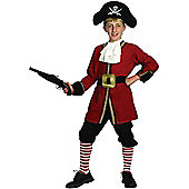 Child Captain Hook Pirate Costume Large