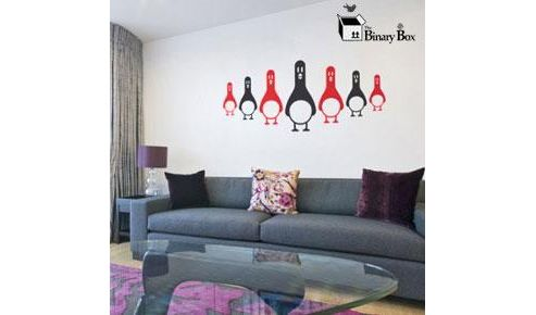 Penguin Army Wall Sticker Set