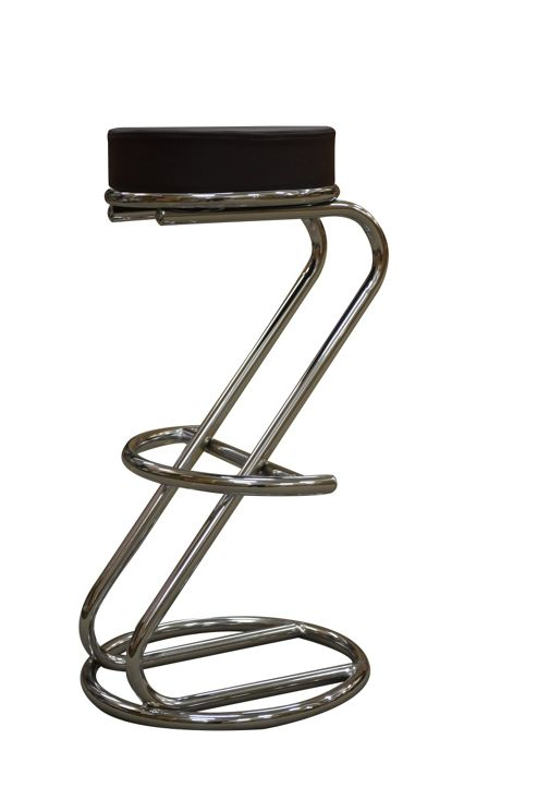 Z Brown Faux Leather Kitchen Bar Stool