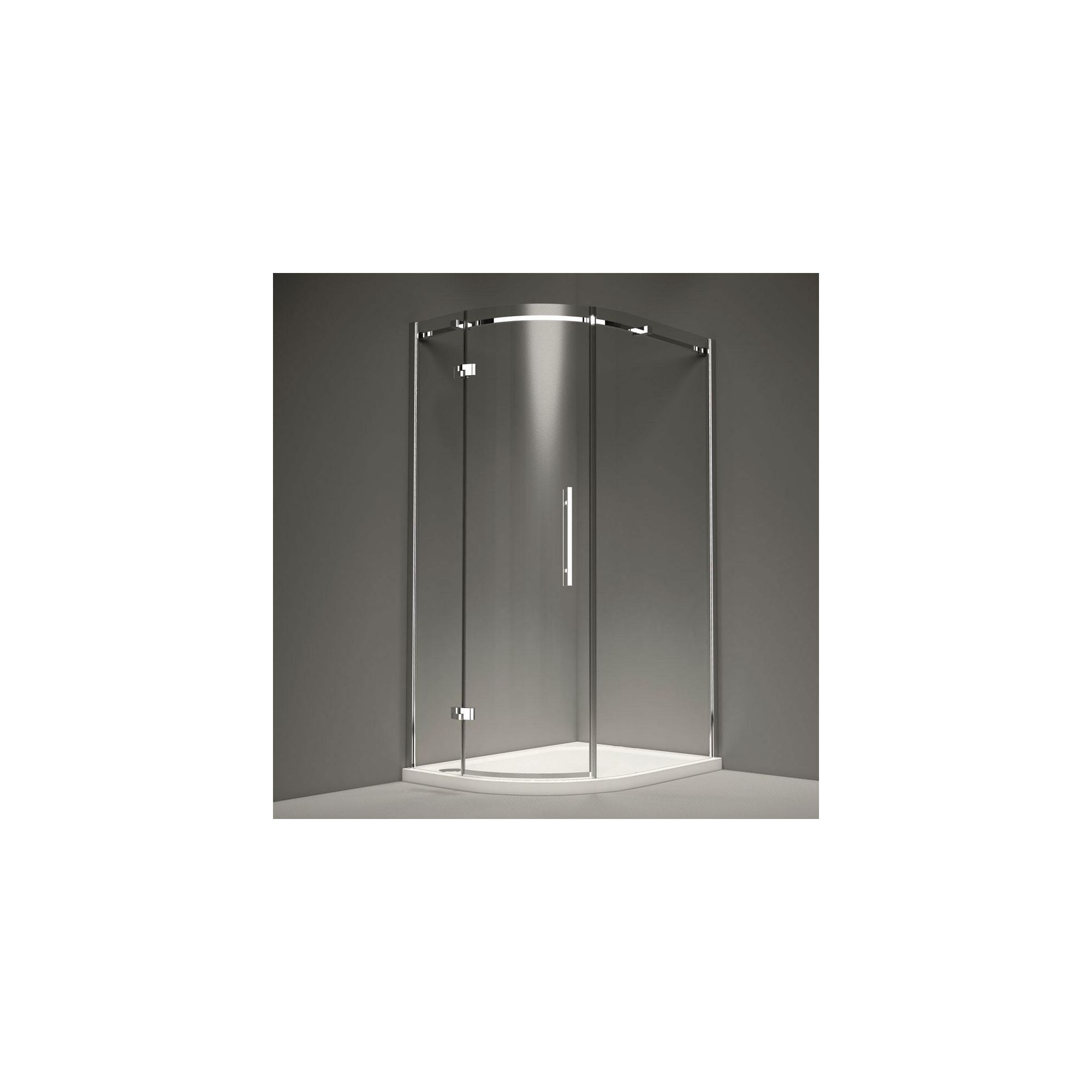 Merlyn Series 9 Single Quadrant Shower Door, 800mm x 800mm, 8mm Glass, Left Handed at Tesco Direct