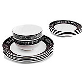 Sabichi 12 Piece Pie and Mash Dinnerware Set