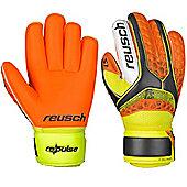 Reusch Re:Pulse S1 Roll Finger Junior Goalkeeper Gloves - Black