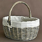 Weave - Lined Storage / Shopping Basket - Natural / Cream
