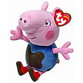 TY UK Beanie Peppa Pig - George Muddy Puddles Beanie