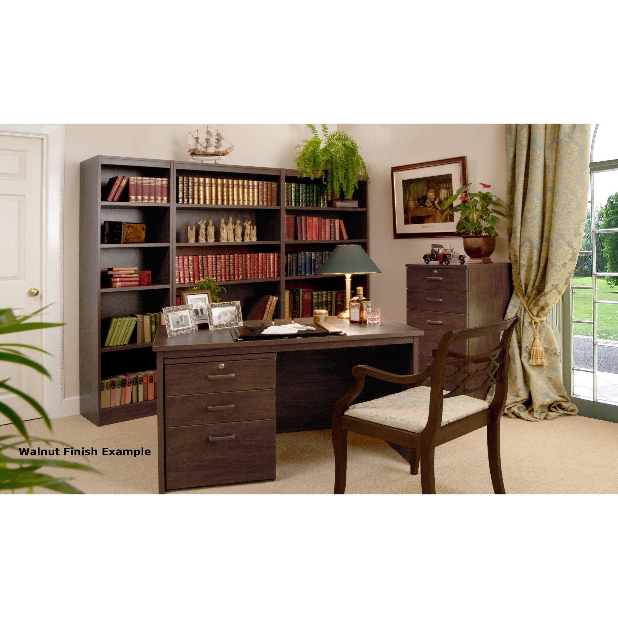 Enduro Four Drawer Tall Wooden Filing Cabinet - Teak at Tesco Direct