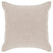 Tesco Plain Chenille Cushion, Stone