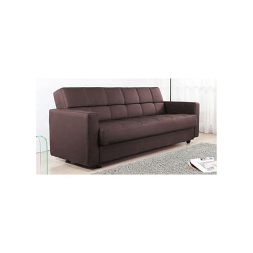 Alpha furniture Sigma Faux Leather Sofa Bed - Brown
