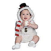 Dress Up America Snow Man Plush Baby Costume - 0 - 6 Months
