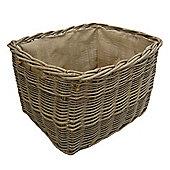 AlpenHome Extra Large Rectangular Lined Log Basket