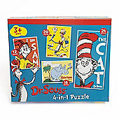 Dr Seuss 4-in-1 Jigsaw Puzzles