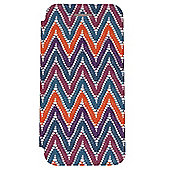 Tortoise™ Flip Cover Case with Built in Stand, iPhone 6 ,Aztec Chevron Design ,Multi coloured.