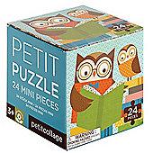 Petit Collage Reading Owls Petit Puzzle