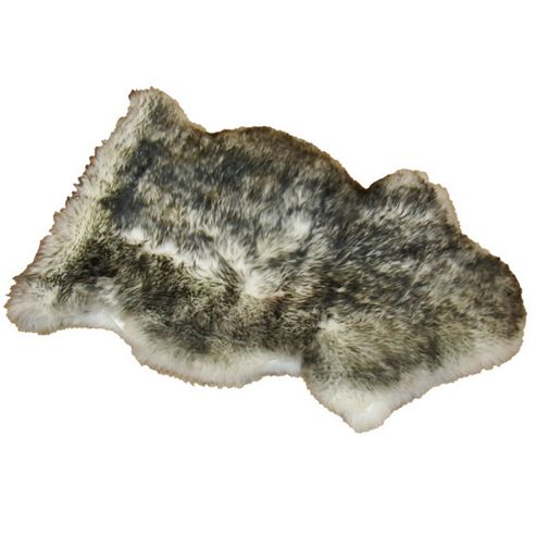 Bowron Sheepskin Long Wool Gold Star Rug in Twilight - 95cm H x 57cm W (One Piece)