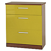 Welcome Furniture Knightsbridge 3 Drawer Deep Chest - Oak - Olive