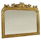 Papa Theo Masena Flower Mirror - Antique Gold