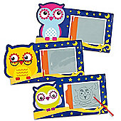 3 Little Owls Magic Drawing Slates (Pack of 6)