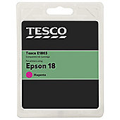 Tesco (Epson T1803) printer ink cartridge - Magenta