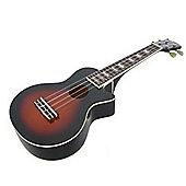 Mahalo Les Paul Acoustic Ukulele - Vintage Sunburst