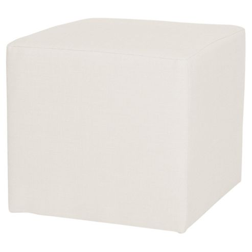Stanza Fabric Cube Foot Stool, Taupe