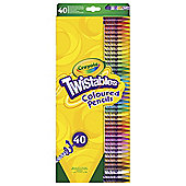 Crayola Twistables Coloured Pencils 40 Pack