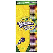Crayola Twistables Coloured Pencils 40 Pack