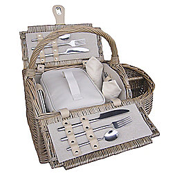 Wicker Valley 2 Person Boat Hamper Picnic Basket