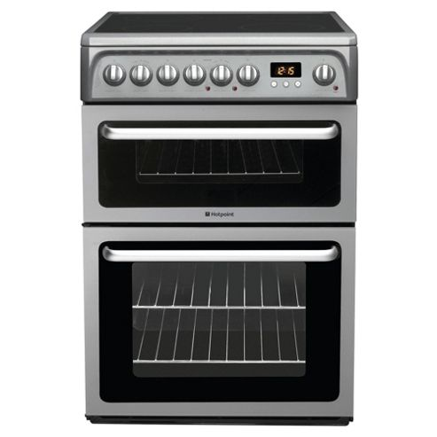 Hotpoint HAE60GS Graphite Electric Cooker, Double Oven